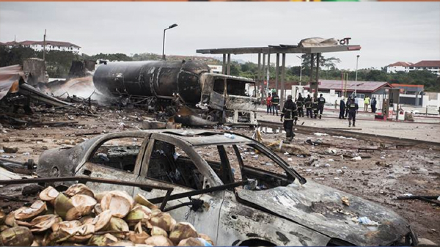 Seven people die in Ghana after Explosion at Petrol Station