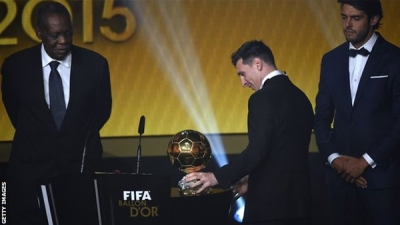 Argentine international and Barcelona's forward, LIONEL MESSI, has been world's best football player for the fifth time.