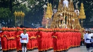 Remains of King of Thailand Cremated in a Symbolic Ceremony Taking Place in Capital, Bangkok