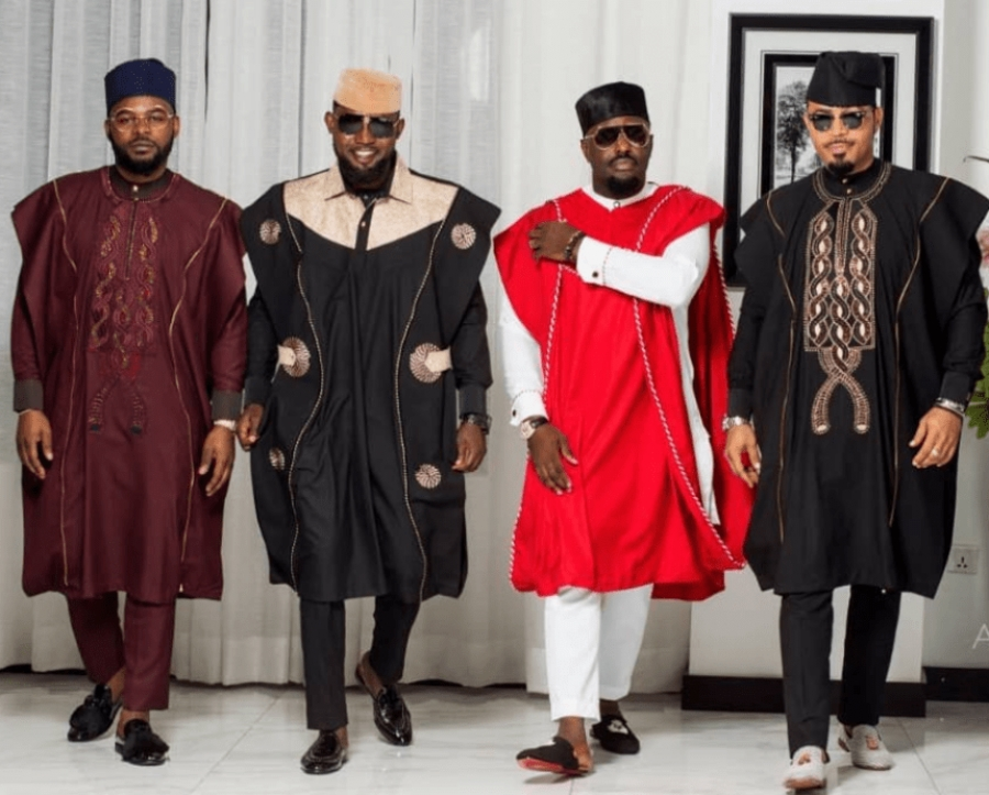 MERRYMEN: Ebuka goes conspicuously missing at the #AgbadaChallenge, The best Agbada goes to.......?