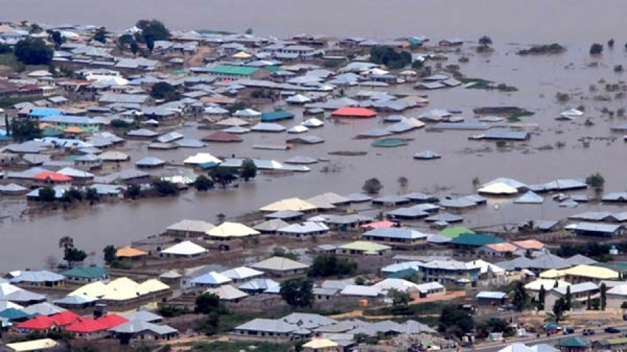 Man electrocuted as heavy flooding hit Port Harcourt.