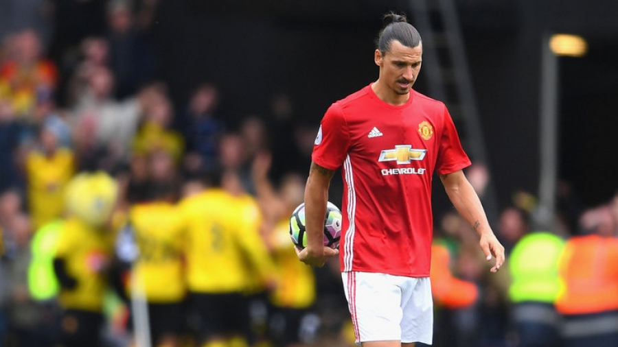 Ibrahimovic saves Manchester with injury-time penalty.