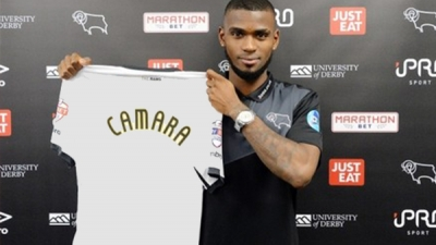 Guinea's international ABDOUL CAMARA has signed for Derby County after leaving from French Ligue One side Angers.