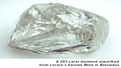 Botswana Karowe Diamond sold for Fifty-three Million Dollars.