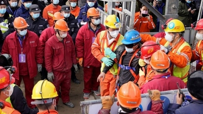 Trapped Miners in China freed