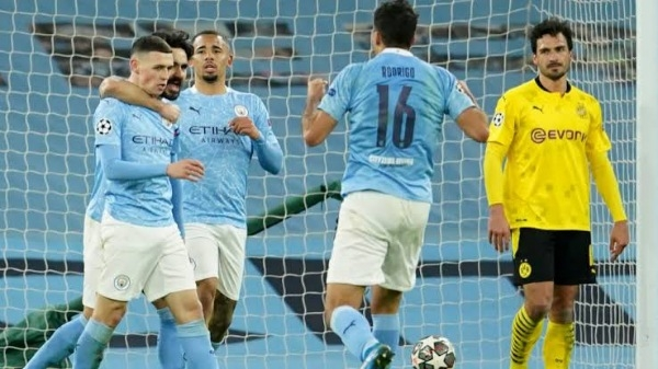 Champions League: Arsenal Maintains record as Man City edge Dortmund