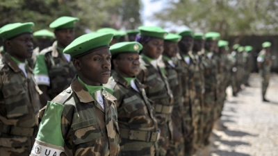 African Union forces in Somalia have retaken one of the few towns that are under the control of the Al-Shabab Islamist militant group.