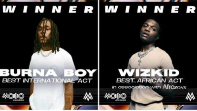 Burna Boy and Wizkid win big at Mobo awards