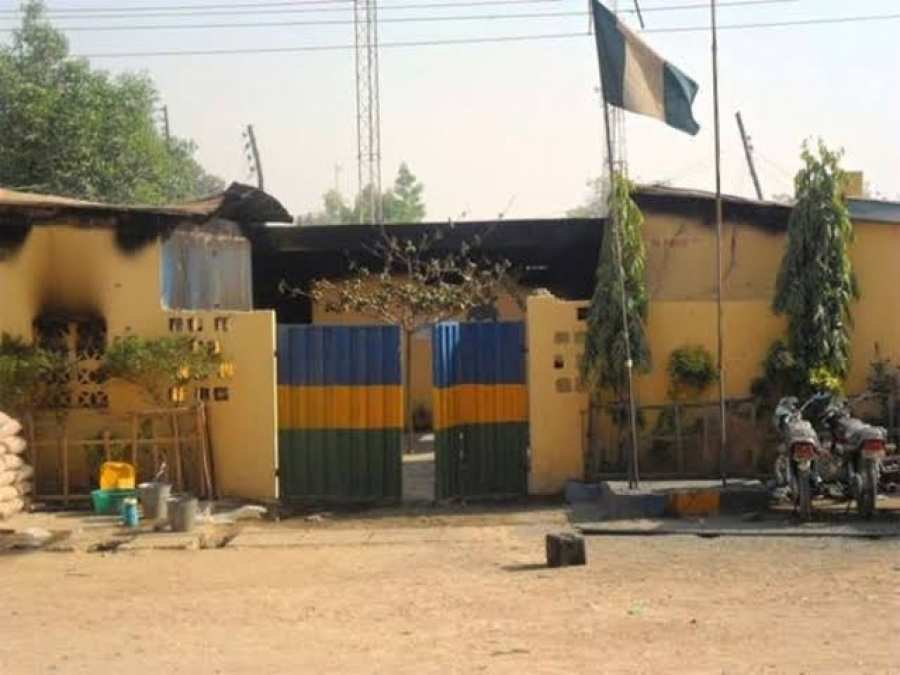 Gunmen raze down another police station in Imo state.