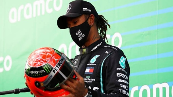 Lewis Hamilton equals Michael Schumacher's record with EIFEL GP win