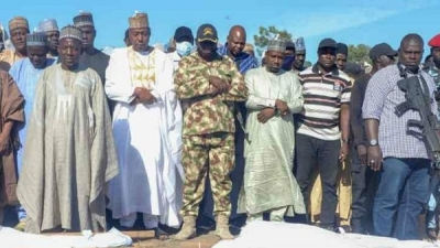 Borno Massacre: Gov Zulum leads burial of 43 killed civilians