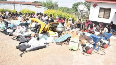 Military task force arrests 123 hoodlums in Plateau for Vandalizing, looting public properties