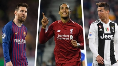 Ronaldo, Messi and Van Dijk named as the final three for FIFA The best men's player of the year Award (full list)