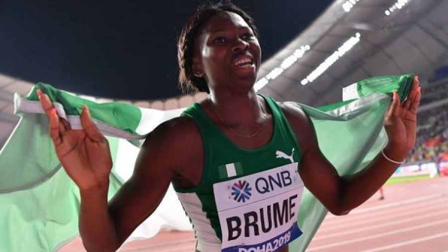 Ese Brume wins Nigeria's first medal at IAAF world athletic championship