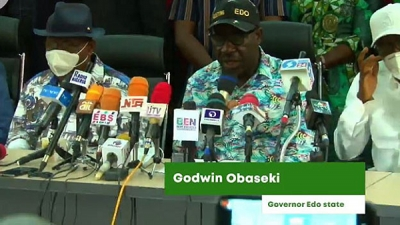 Governor Obaseki thanks president Buhari after victory in Edo polls