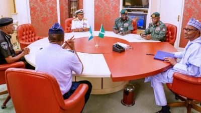 President Buhari accepts resignation of service Chiefs, appoints new ones